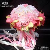 結婚手捧花婚慶韓式新娘仿真手捧花中式伴娘歐式森系用品婚禮花束  深藏blue