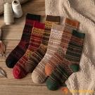 襪子女中筒襪秋冬純棉日系民族風堆堆襪女復古長襪【小獅子】