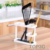 小清新鐵藝刀叉筷子筒 廚房用品餐具籠瀝水收納置物架「Top3c」