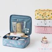 化妝包女便攜大容量超大高級感旅行簡約隨身化妝品收納包【少女顏究院】