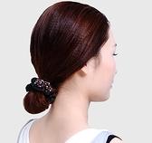 頭飾 髮圈頭繩布圈韓國扎頭髮繩頭飾盤髮頭花髮飾成人皮筋韓版簡約皮套