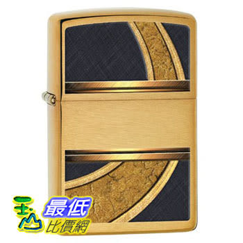 [104 美國直購] Zippo Design Lighter, Brushed Brass 打火機