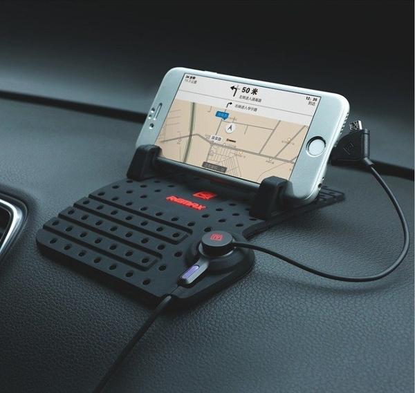 【Love Shop】Remax 樂享手機導航支架 多功能矽膠防滑車載充電器手機通用