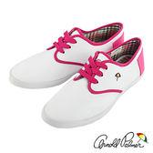 Arnold Palmer - 魅力繽紛滾邊配色休閒帆布鞋 069-白