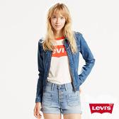 高腰牛仔短褲 / 外露式排扣 - Levis