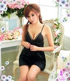 (任選2件450元)情趣薄紗-女用商品-輕柔典雅-性感柔緞睡襯衣#黑  -邱比特情趣用品(性感睡衣)