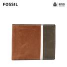 FOSSIL SCOTT 真皮RFID防盜證件格零錢袋皮夾-深棕色 ML4279201