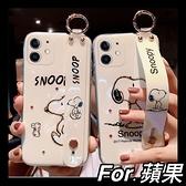 iPhone 12 蘋果11 Pro Max XR Xs Max 7 8 plus SE2 腕帶支架款 創意藍光 大頭狗狗保護殼 全包軟殼
