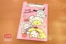 Hello Kitty 凱蒂貓 布丁狗 大耳狗 帕洽狗 PP板夾附便條紙 粉 958844