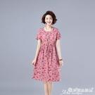 棉麻連身裙 年輕媽媽棉麻連身裙女中長款夏季2020年新款氣質減齡棉綢亞麻裙子 愛麗絲