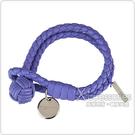 BOTTEGA VENETA 經典純手工編織雙環細嫩小羊皮手環(紫色)