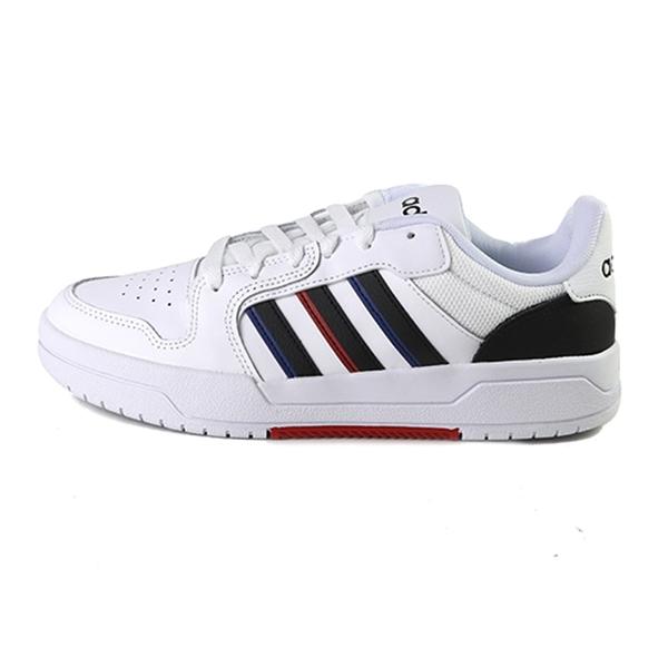 Adidas Entrap 白色 皮質 運動籃球鞋 男款NO.B1896【新竹皇家 FY6075】