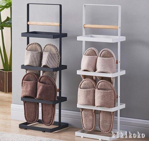 鞋架 北歐簡約小清新家居拖鞋架簡易家用省空間時尚公寓室內收納掛鞋架 XY6071【KIKIKOKO】TW