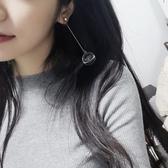 耳環 耳環韓國簡約百搭耳飾品個性夸張吊墜潮人耳墜長款氣質耳釘女【快速出貨八五鉅惠】