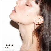 派對女王~不對稱流蘇耳線耳環600811/2色