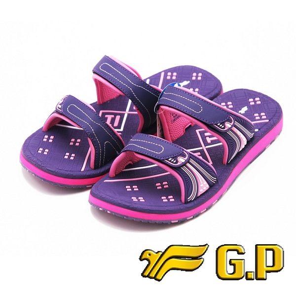 【G.P】女款親子同樂舒適拖鞋 童鞋 女鞋-紫(另有桃)