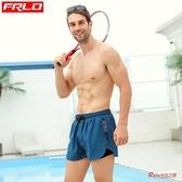 泳褲 男彈力寬鬆時尚拉鍊口袋速幹泳衣全內襯泳池泡溫泉沙灘褲 9色
