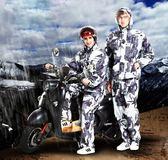 迷彩雨衣雨褲套裝成人徒步分體摩托車男女騎行加厚防水全身雨衣【全館限時88折】