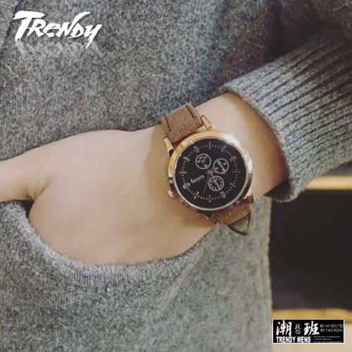 『潮段班』【SB000135】學院休閒復古風格防水皮帶氣質淑女錶手錶