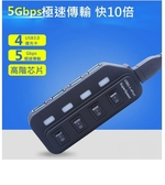 【生活家購物網】USB 3.0 HUB 4PORT 4口獨立開關 電源指示燈 改良版集線器 分線器擴充槽