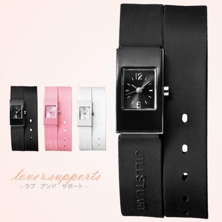 JILL STUART 秀氣方形鏡面手錶 多層次女孩腕錶 限量日本空運 柒彩年代【NE1014】原廠公司貨