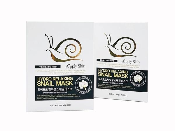 【韓國Apply Skin】蝸牛深層保濕修護面膜(一盒20片)