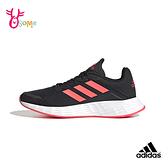adidas運動鞋 女童鞋女鞋親子鞋 慢跑鞋 跑步鞋 透氣運動鞋 DURAMO SL S9362#黑橘◆OSOME奧森鞋業