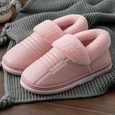 毛毛拖鞋女外穿秋冬季厚底2020女士可愛防水包頭家用棉拖鞋女冬天