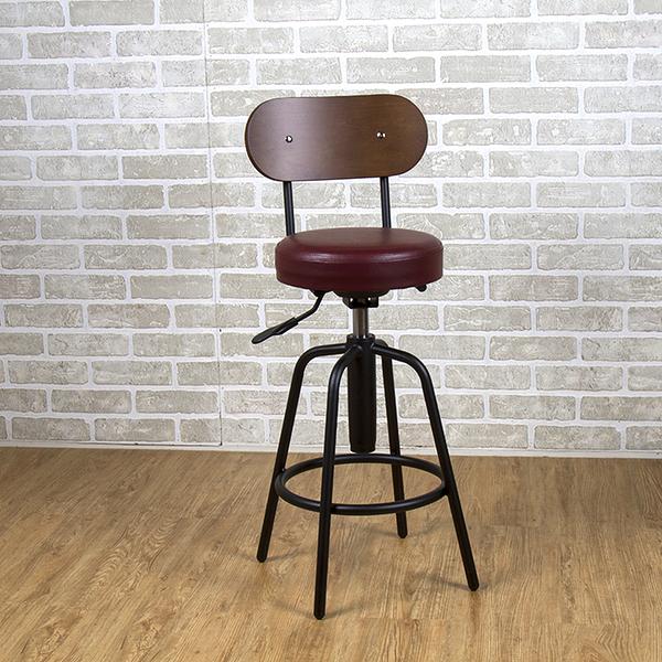 吧台椅/日式吧台椅/吧台桌椅/升降椅/曲木 (棕紅色)MIT台灣製【61201-BR】Tasteful 特斯屋