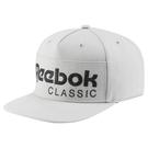 REEBOK  CL FOUNDATION CAP 帽子 棒球 扣環 灰 【運動世界】BP8190