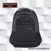 【Roberta Colum】諾貝達 百貨專櫃 男仕多功能防潑水後背包(PX504-1 黑色)【威奇包仔通】