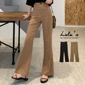 LULUS-Y高腰微喇叭長褲S-L-2色  【05190013】