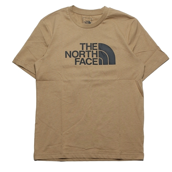 THE NORTH FACE 短T 卡其色 黑 LOGO 短袖 休閒 情侶 男女 (布魯克林) NF0A4U8ZPLX
