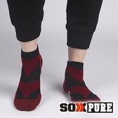 【SOXPURE】男 極速快乾機能襪『紅色』SP1004 露營.戶外.登山.保暖襪.彈性襪.休閒襪.襪子