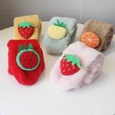 秋冬季ins兒童圍巾水果女童寶寶圍脖男童韓版保暖潮小孩毛絨圍巾