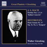 【正版全新CD清倉  4.5折】Gieseking Play BACH & Beethoven 季雪金1934-40年巴哈與貝多芬錄音