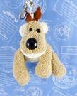 【震撼精品百貨】日本日式精品_狗DOG~絨毛鎖圈-沙包狗-米色