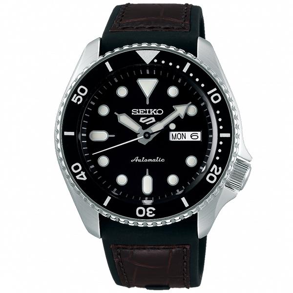 【台南 時代鐘錶 SEIKO】精工 5 Sports 系列機械錶 SRPD55K2@4R36-07G0C 黑 42.5mm