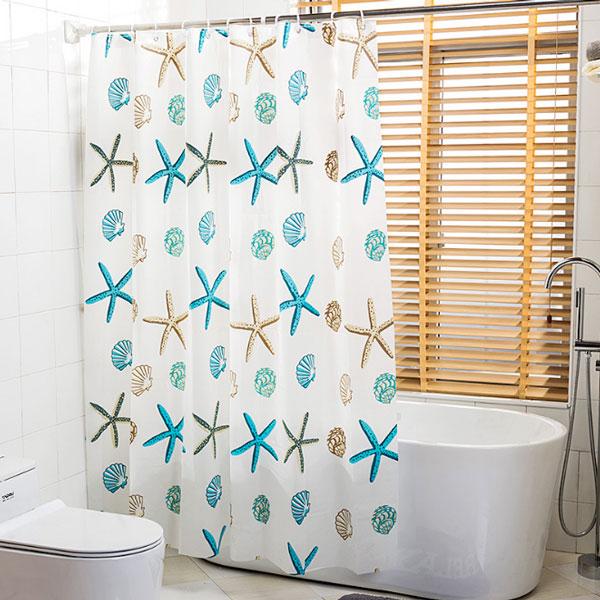 加厚PEVA 浴室防水浴簾 180*200cm 浴簾 門簾 衛浴用品 【SA0543】Loxin