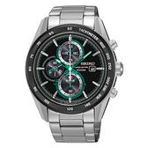 SEIKO Criteria時尚率性太陽能計時腕錶/黑面x綠/V176-0AN0G