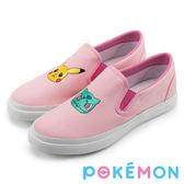 Pokémon 寶可夢不對稱電繡休閒懶人鞋-粉色