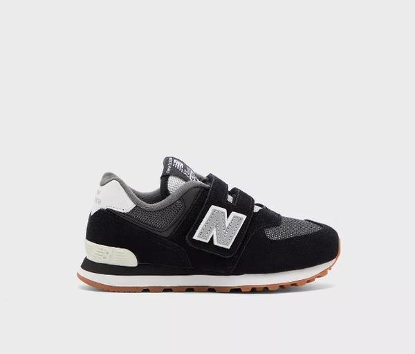 New Balance 黑灰色魔鬼氈運動休閒童鞋-NO.YV574SPT