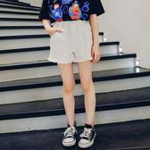 女童短褲夏季2019新款兒童休閒褲女孩夏裝中大童洋氣褲子白色外穿