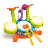 幼兒寶寶1-6歲兒童架子鼓爵士鼓音樂敲打樂器3玩具小男孩生日禮物 熊熊物語