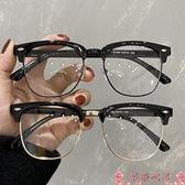 眼鏡素顏平光鏡女黑框眼鏡框男復古眼鏡可配鏡片大臉鏡架眼睛網紅 芊墨