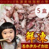 送1盒【海肉管家-全省免運】台灣極鮮甜活急凍小卷X5盒送1盒共6盒(每盒300g±10%)