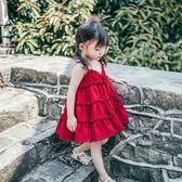 女童洋裝 夏2019新款女孩韓版雪紡沙灘公主吊帶裙女寶寶洋氣裙子 rj96【棉花糖伊人】