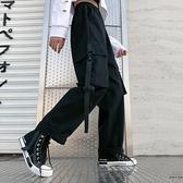 工裝褲女高腰顯瘦百搭寬鬆bf風嘻哈直筒闊腿褲【時尚大衣櫥】
