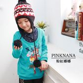 PINKNANA童裝-大童假兩件式輕薄上衣37151