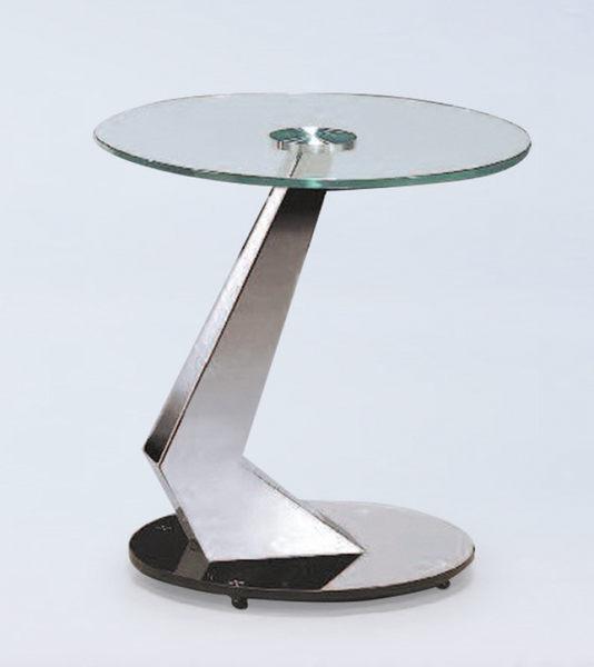 【 IS空間美學】X913造型玻璃洽談桌